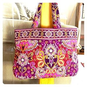 💕 Vera Bradley purple orange large tote cute 💕